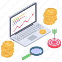 crypto data analysis, data search, online analytics, online data monitoring, online statistics icon