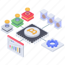 bitcoin analytics, bitcoin management, bitcoin network, blockchain, cryptocurrency business, cryptocurrency marketplace, digital money icon