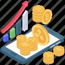 bitcoin analytics, bitcoin network, btc, digital currency network, mobile analytics, online data, statistics icon