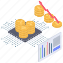 altcoin, bitcoin analytics, cryptocurrency chart, cryptocurrency graph, cryptocurrency growth icon