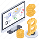 bitcoin business, bitcoin capitalization, bitcoin investment, bitcoin network, online business icon