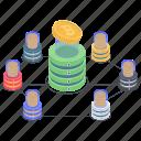 bitcoin earning, bitcoin mining, blockchain, cryptocurrency mining, mining farm icon