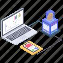 bitcoin data analytics, data infographic, online analytics, online business graph, online statistics icon