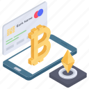 bitcoin credit, bitcoin payment, cryptocurrency transaction, digital payment, online banking icon