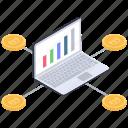 data analytics, data infographic, online analytics, online business graph, online statistics icon