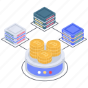 bitcoin distributed network, blockchain network, btc, cryptocurrency network, digital currency icon