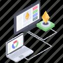 cryptocurrency analytics, data analytics, data infographic, online analytics, online business graph, online statistics icon