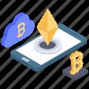 bitcoin payment, cloud bitcoin, cloud bitcoin transaction, cloud computing, digital money icon