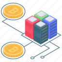 bitcoin data, bitcoin dataserver, bitcoin storage, cryptocurrency data, cryptocurrency network icon