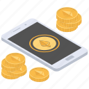 digital money, online business, online ethereum trading, online trading, virtual currency icon