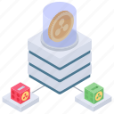 blockchain network, btc, cryptocurrency network, digital currency, distributed network icon