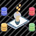 bitcoin idea, bitcoin innovation, business idea, cryptocurrency network, virtual business idea icon