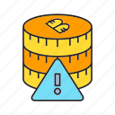 bitcoin, blockchain, coin, cryptocurrency, digital currency, error, warning icon