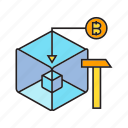 bitcoin, bitcoin mining, blockchain, cryptocurrency, cube, digital currency, encryption icon