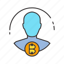 backer, bitcoin, buyer, cryptocurrency, financier, invester, shareholder icon