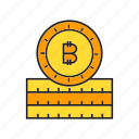 bitcoin, blockchain, coin, cryptocurrency, digital currency, electronic money, transaction icon