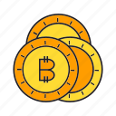 bitcoin, blockchain, coins, cryptocurrency, digital currency, electronic money, transaction icon