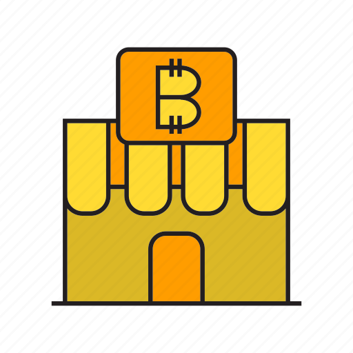 bitcoin, cryptocurrency, digital currency, payment, retail, shop, store icon