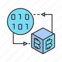 binary, bitcoin, blockchain, coding, cryptocurrency, cube, digital currency