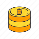 bitcoin, coin, cryptocurrency, electronic money, finance, money, payment icon
