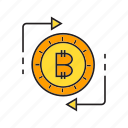 barter, bitcoin, coin, cryptocurrency, exchange, money exchange, swap icon