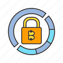 bitcoin, blockchain, cryptocurrency, digital currency, encryption, privacy, security icon