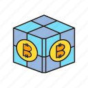 bitcoin, blockchain, box, cryptocurrency, cube, digital currency, electronic money