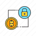 bitcoin, cryptocurrency, digital currency, key, lock, privacy, security