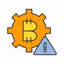 bitcoin, blockchain, cog, cryptocurrency, digital currency, error, gear icon
