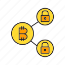 bitcoin, cryptocurrency, digital currency, encryption, finance, key, security icon