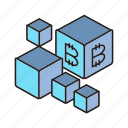 bitcoin, blockchain, box, cryptocurrency, cube, digital currency icon