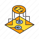 bitcoin, blockchain, chip, cryptocurrency, digital currency, microchip, sensor icon