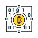 binary, bitcoin, blockchain, cryptocurrency, digital currency, electronic money, encryption icon