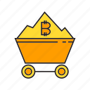 bitcoin, bitcoin mining, blockchain, cart, cryptocurrency, digital currency, electronic money icon