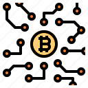 bitcoin, blockchain, cryptocurrency icon