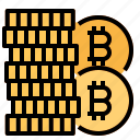 bitcoin, coin, currency icon