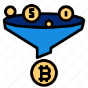bitcoin, cryptocurrency, exchange, transfer icon