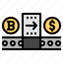 bitcoin, converse, exchange icon