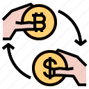 bitcoin, coin, exchange, money icon