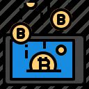 coin, mobile, money, smartphone icon