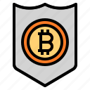 coin, security, shield icon