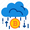 bitcoin, cloud, profit icon
