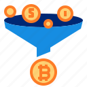 bitcoin, exchange, transfer icon