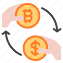 bitcoin, coin, exchange icon