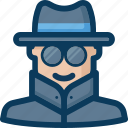 agent, anonymity, anonymous, blockchain, cryptocurrency, security icon