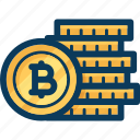 bitcoin, blockchain, coins, cryptocurrency, currency, finance, protection icon