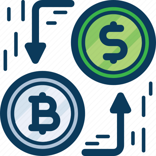 bitcoin, blockchain, cryptocurrency, currency, dollar, exchange, transaction icon
