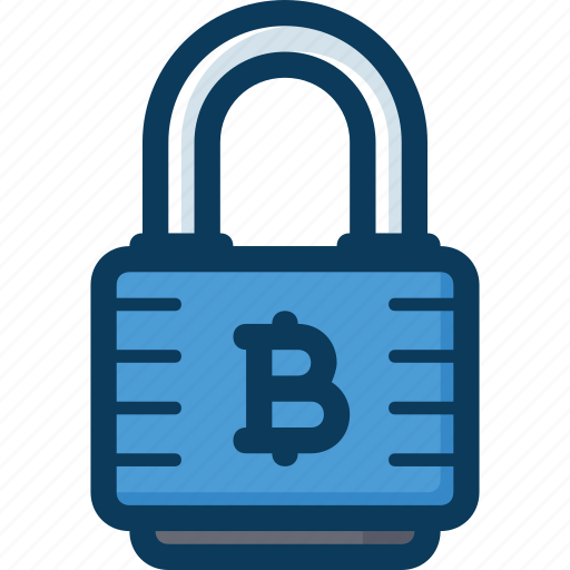 blockchain, cryptocurrency, currency, lock, protection, security icon