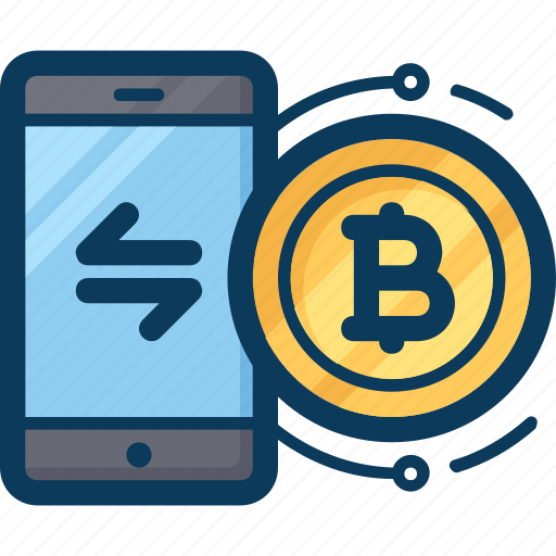 blockchain, cryptocurrency, currency, exchange, mobile, payment, phone icon