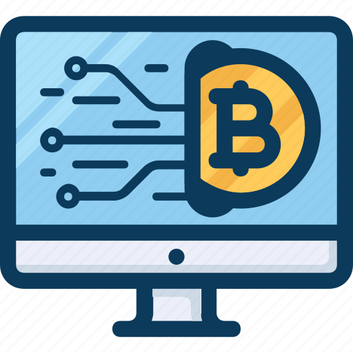 blockchain, computer, cryptocurrency, currency, payment, pc icon